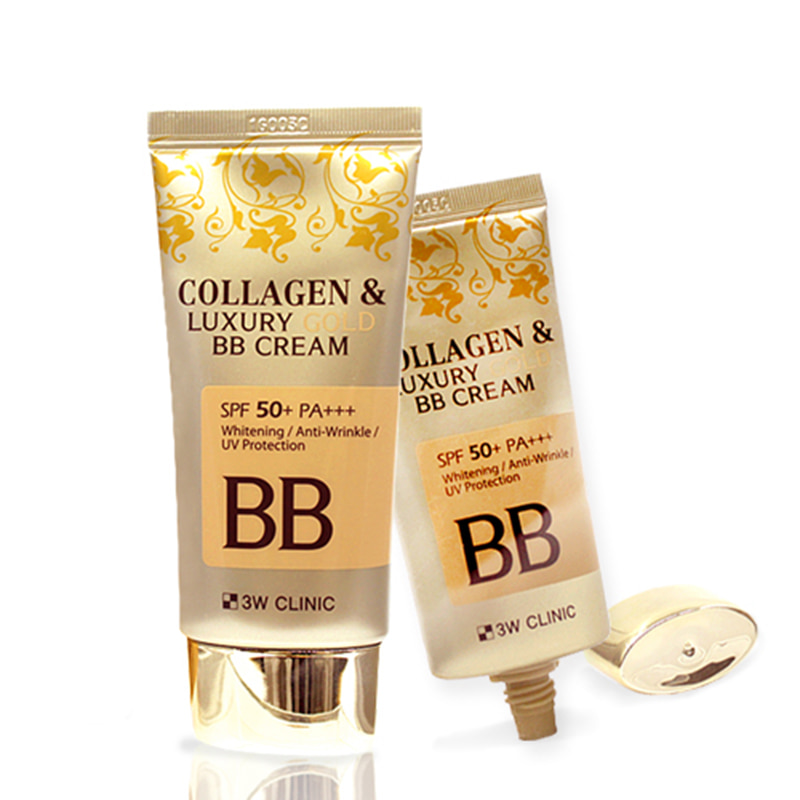 [3W CLINIC] Collagen & Luxury Gold BB Cream (SPF50+/PA+++) 50ml (Weight : 83g)