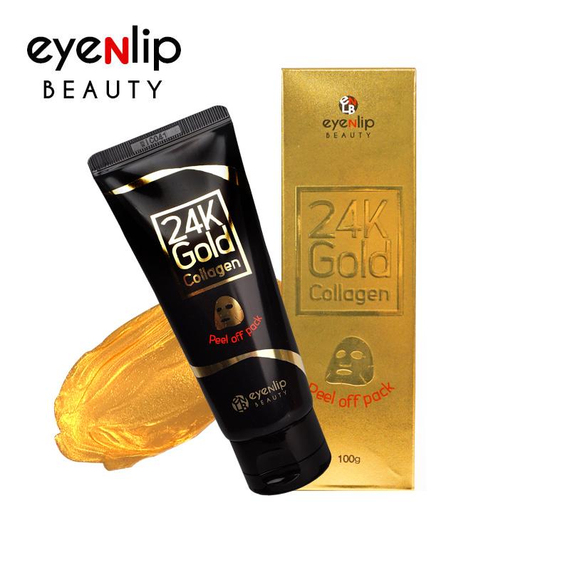 [EYENLIP] 24K Gold Collagen Peel off Pack 100g (Weight : 142g)