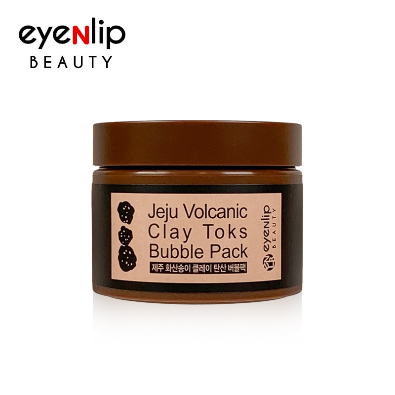 [EYENLIP] Jeju Volcanic Clay Toks Bubble Pack 100g (Weight : 236g)