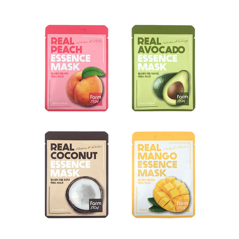 [FARM STAY] Real Essence Mask 23ml * 1pcs 4 Type (Weight : 30g)