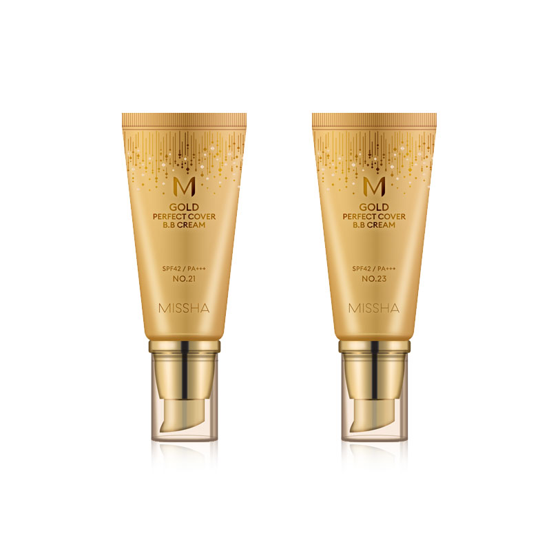 [MISSHA] M Gold Perfect Cover B.B Cream (SPF42/PA+++) 2 Color 50ml (Weight : 95g)