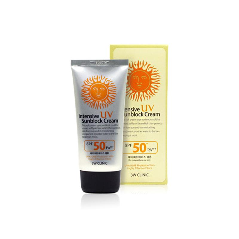 [3W CLINIC] Intensive UV Sunblock Cream 70ml (Weight : 99g)