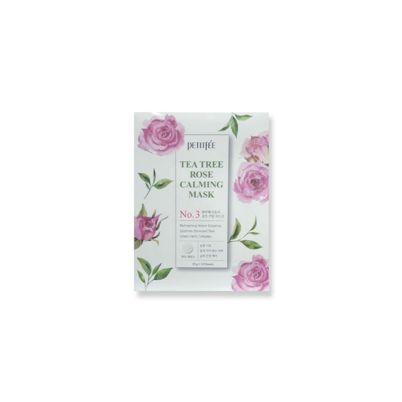 [PETITFEE] Tea Tree Rose Calming Mask 25g * 1pcs (Weight : 34g)