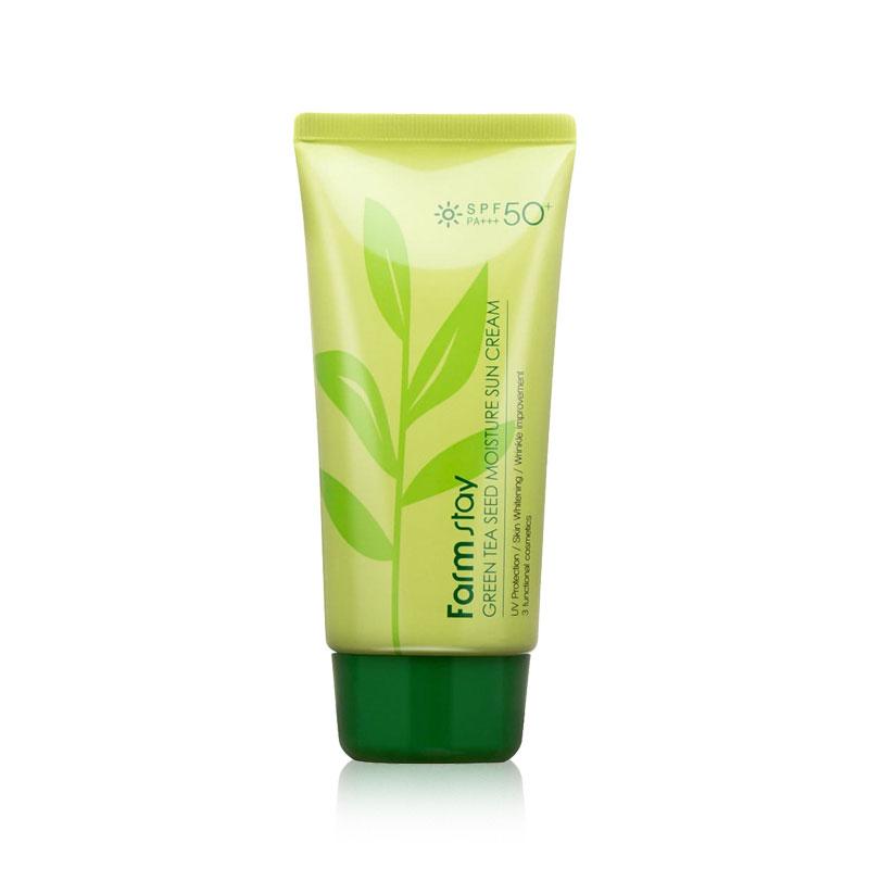 [FARM STAY] Green Tea Seed Moisture Sun Cream (SPF50+ / PA+++) 70g (Weight : 105g)
