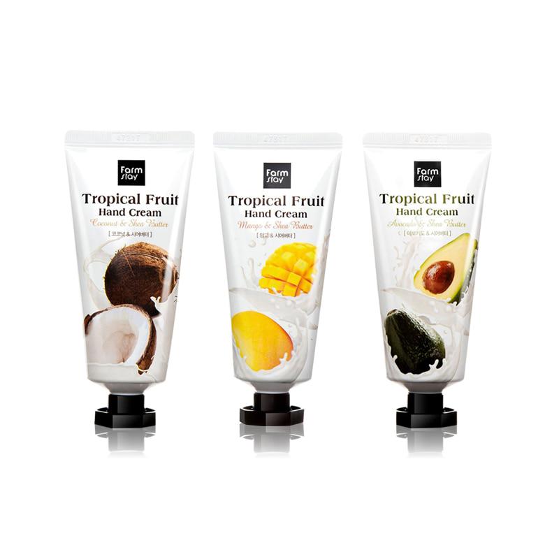 [FARM STAY] Tropical Fruit Hand Cream 3 Type 50ml (Weight : 66g)