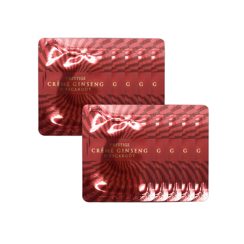 [IT'S SKIN] Prestige Crème Ginseng D'escargot 1.5ml *10pcs [Sample] (Weight : 28g)