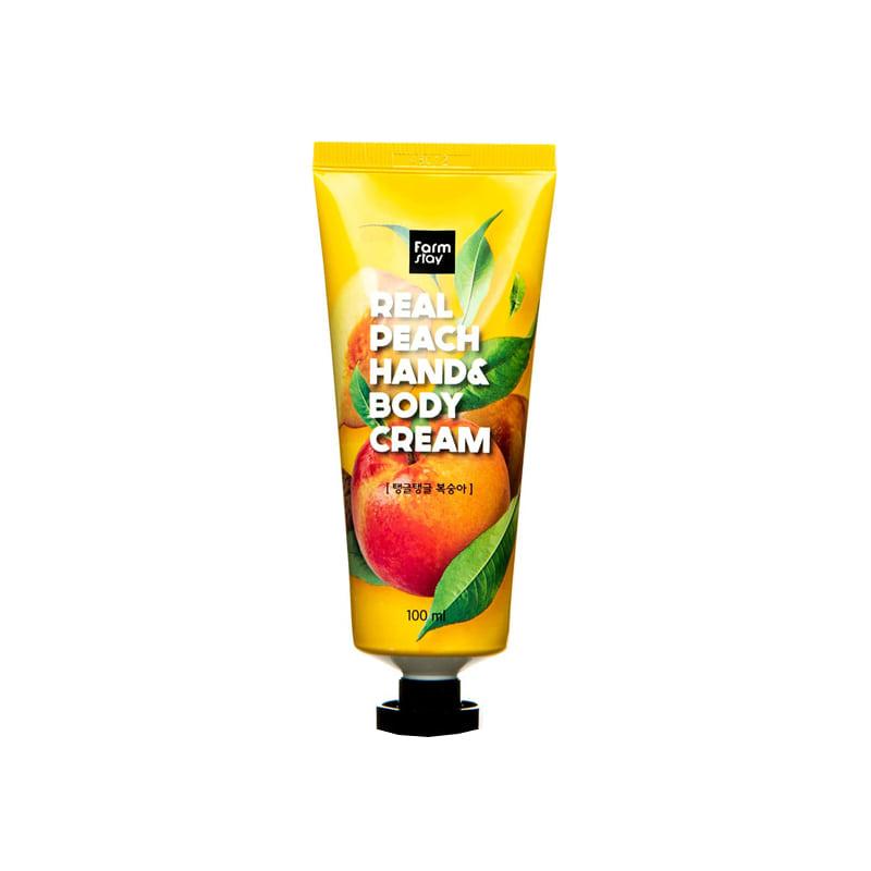 [FARM STAY] Real Peach Hand & Body Cream 100ml (Weight : 131g)