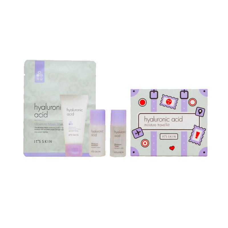 [IT'S SKIN] Hyaluronic Acid Moisture Travel Kit [4 Items] [Sample] (Weight : 166g)