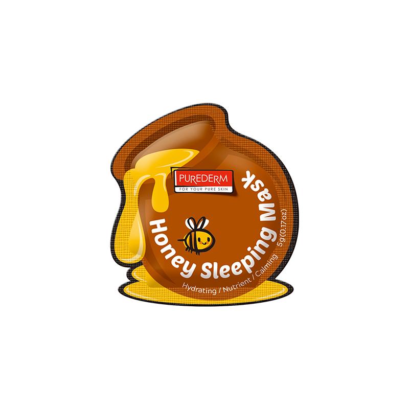 [PUREDERM] Honey Sleeping Mask 5g x 12 pouches (Weight : 84g)