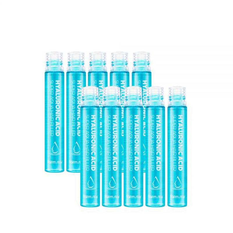 [FARM STAY] Hyaluronic Acid Super Aqua Hair Filler 13ml * 10pcs (Weight : 212g)