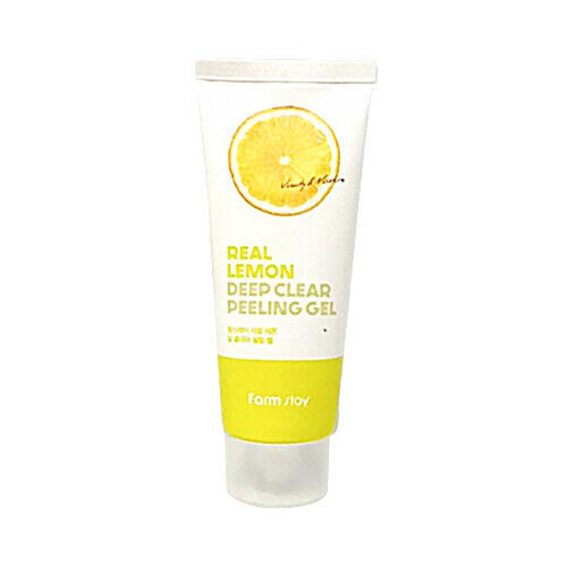 [FARM STAY] Real Lemon Deep Clear Peeling Gel 100ml (Weight : 130g)