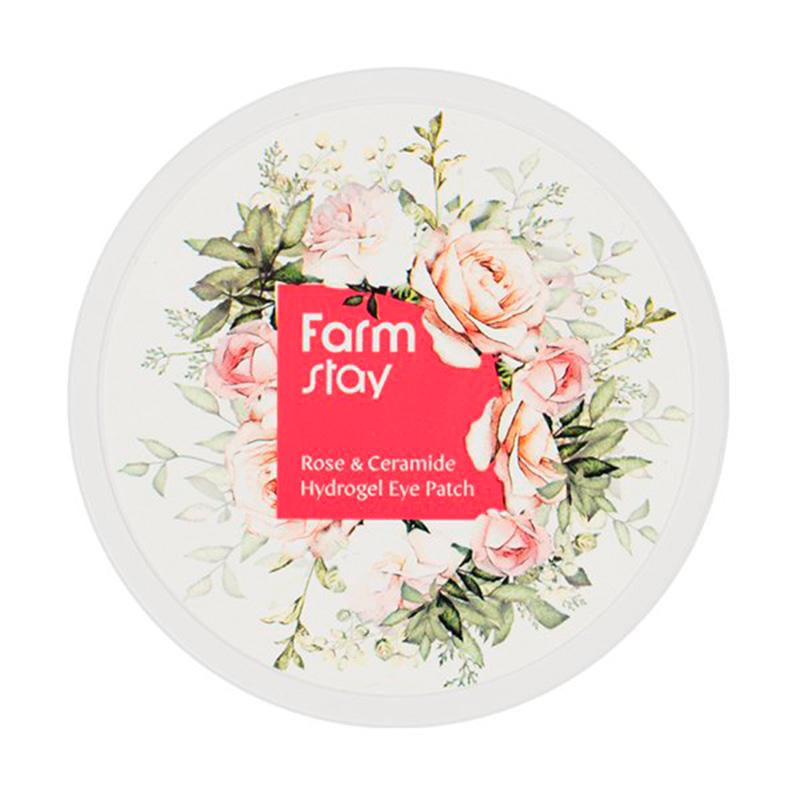 [FARM STAY] Rose & Ceramide Hydrogel Eye Patch 90g (Weight : 194g)