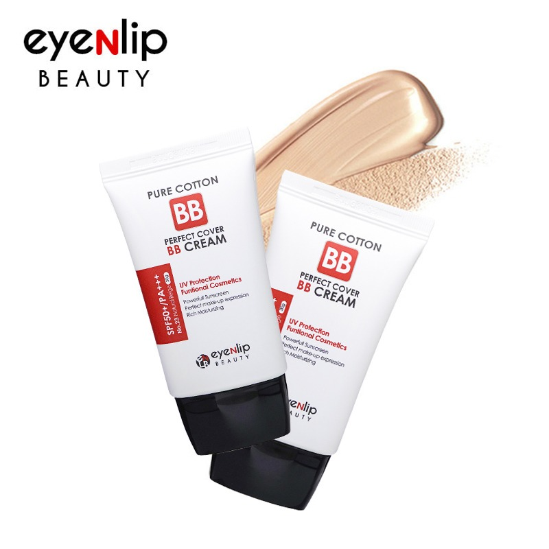 [EYENLIP] Pure Cotton Perfect Cover BB Cream (SPF50+/PA+++) 2 Color 30g [Renewal in 2020] (Weight : 43g)