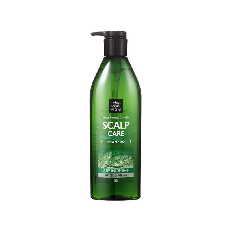 [MISEENSCENE] Scalp Care Jeju Green Tea Shampoo 680ml (Weight : 840g)