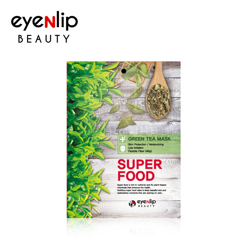 슈퍼 푸드 녹차 마스크 23ml 10매Super Food Green Tea Mask 23ml [10pcs]