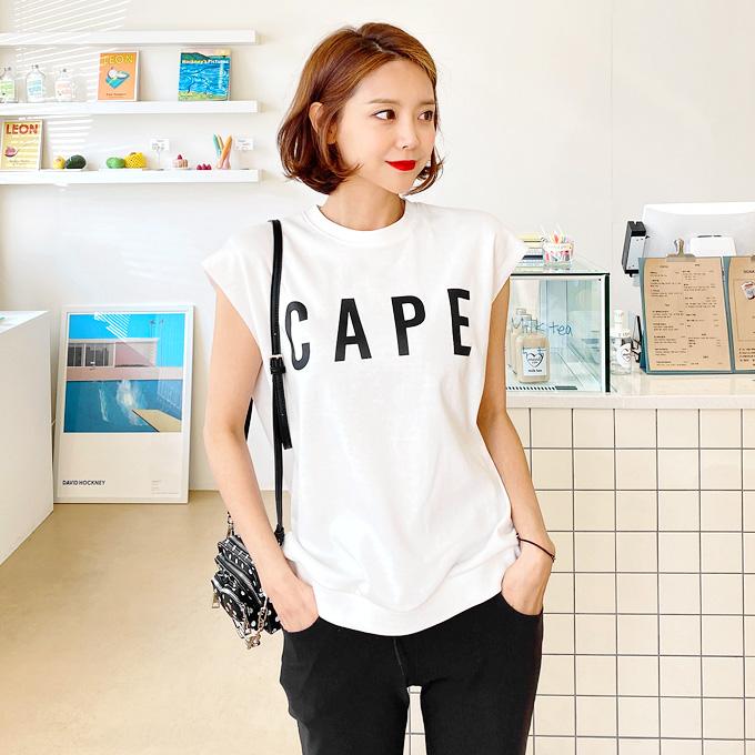 レタリングフレンチ袖Tシャツ