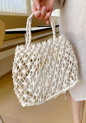 編み込みネットバッグ