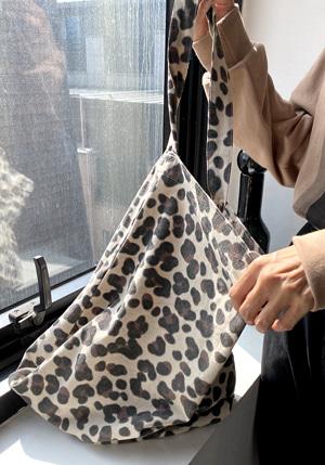 レオパード柄シンプルトートバッグ