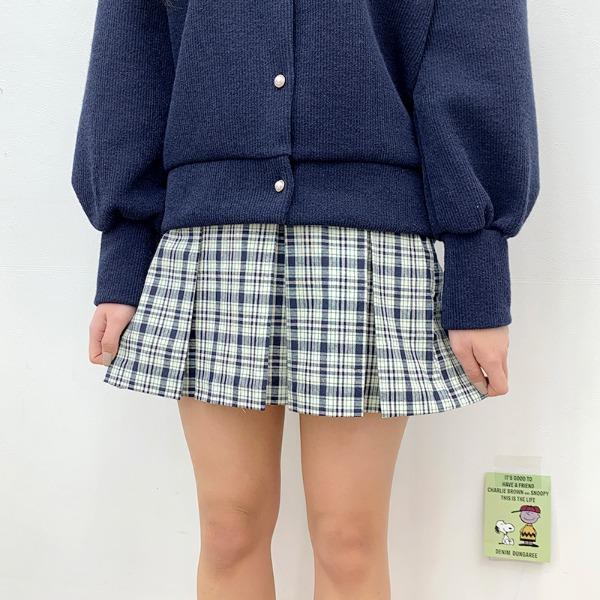 Darling You Check Tennis Skirt