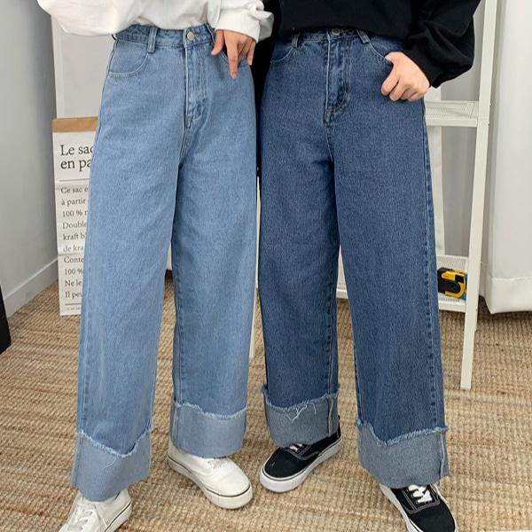 Visual Roll Up Denim Pants