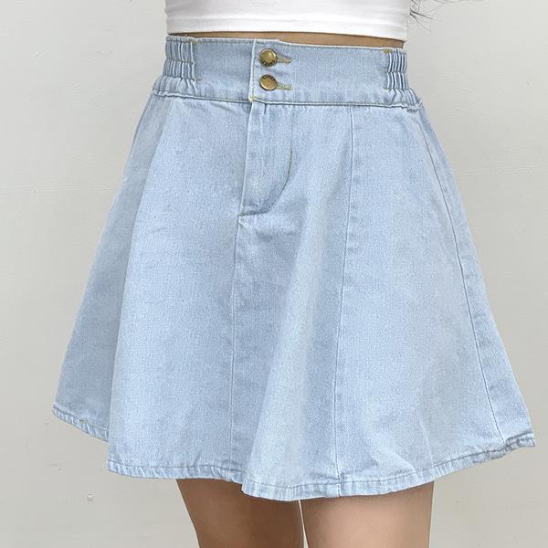 Minin banding denim skirt