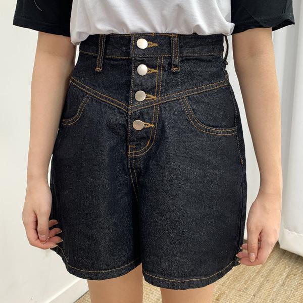 A-fit denim short pants