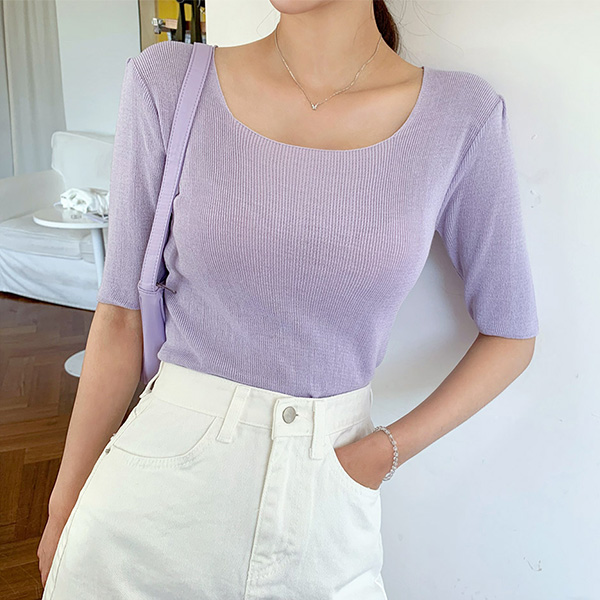 Calm And Composed Square Knit Top_H65153