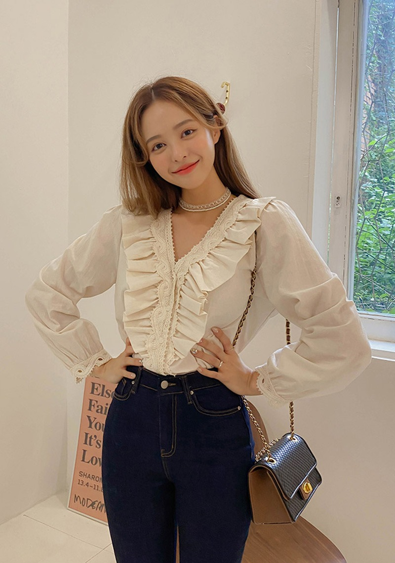 Fall Ruffle Blouse_H65995