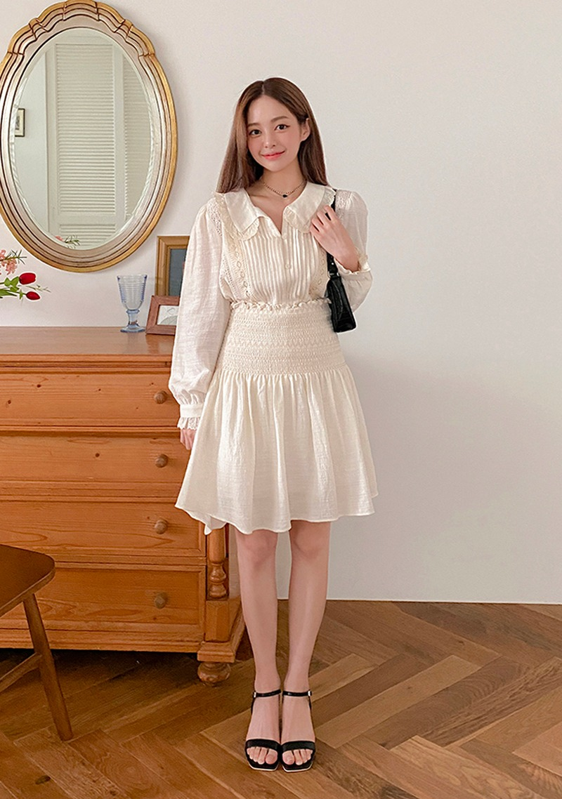 Lovely With You Lace Blouse & Skirt Set_H65846