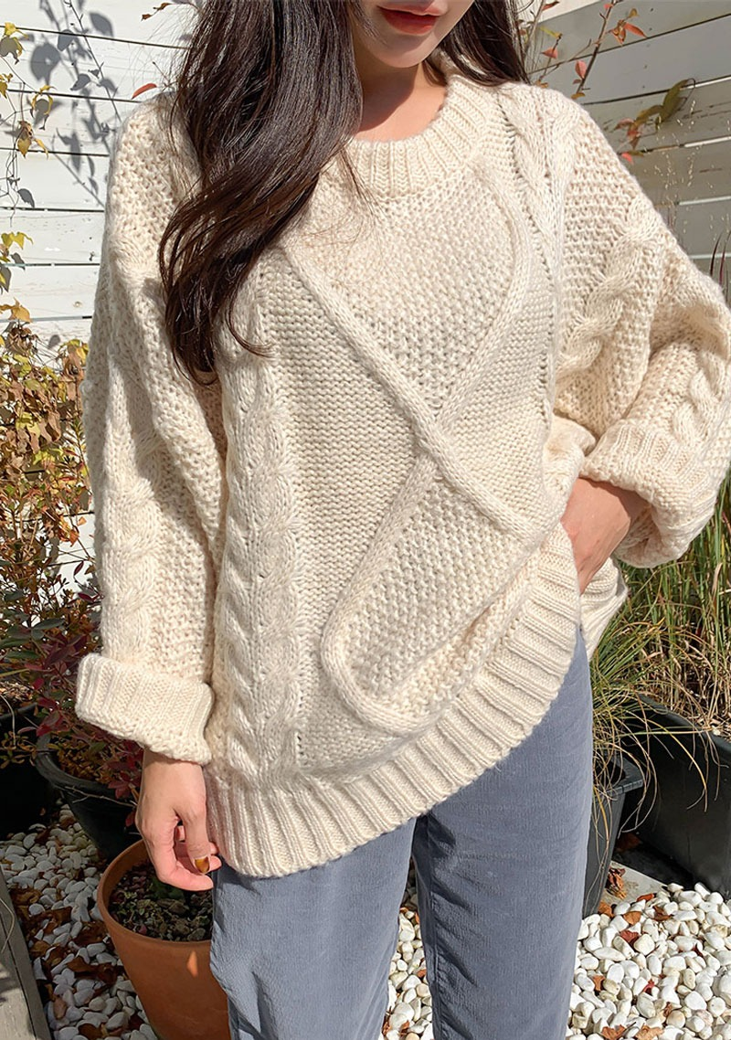When You Can See The Sun Knit Sweater_H66575