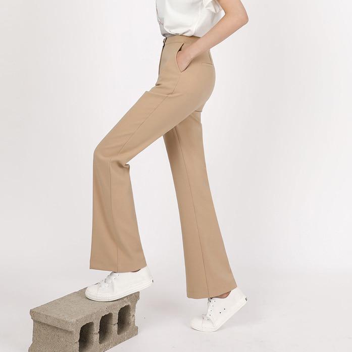 DABAGIRL内弹力腰纯色休闲裤