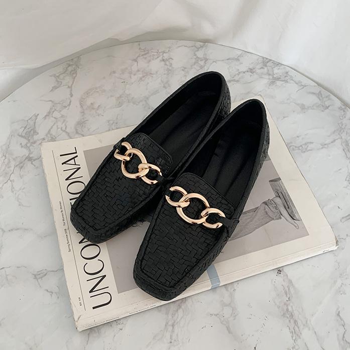 DABAGIRL夸张链条编织感乐福鞋