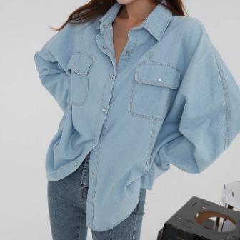 놀줄아는청셔츠_D3BL 30대여성쇼핑몰 20대여자쇼핑몰 키작은여자쇼핑몰 여성의류쇼핑몰 데이트룩 데일리 루즈핏셔츠 데님셔츠 청남방 스트릿 셔츠 유니크 연청 편안한 박시 데일리스타일 모던한룩