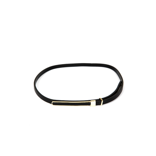 Dabagirl Slim Faux Leather Belt
