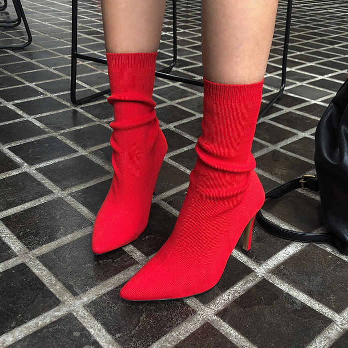 Dabagirl Pointed Toe Sock Shoes