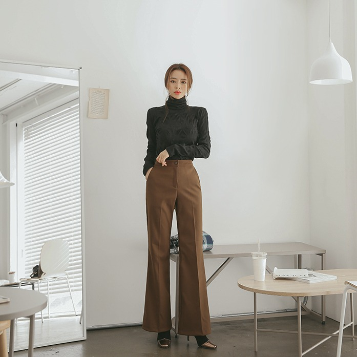 Dabagirl High Waist Bootcut Slacks