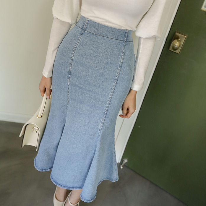 Dabagirl Mermaid Denim Skirt