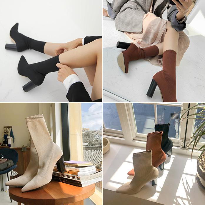 Dabagirl Chunky Heel Sock Boots