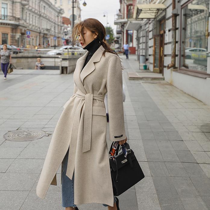 Dabagirl Notch Lapel Tie-Waist Long Coat