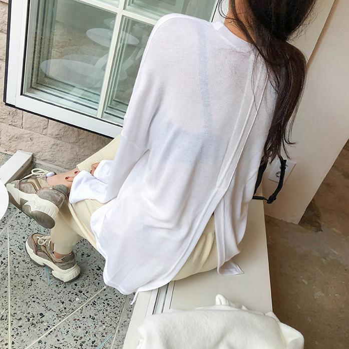Dabagirl Solid Tone Split Back T-Shirt