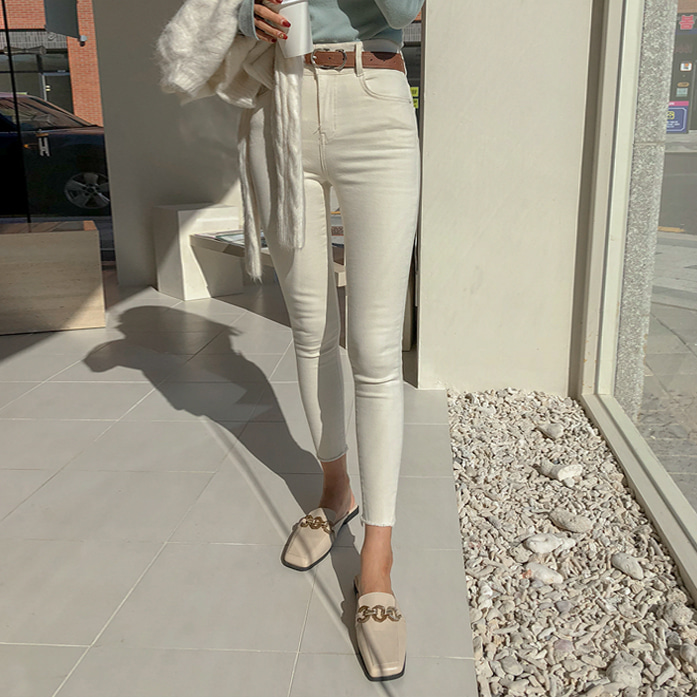 Dabagirl Double Button Cropped Skinny Pants