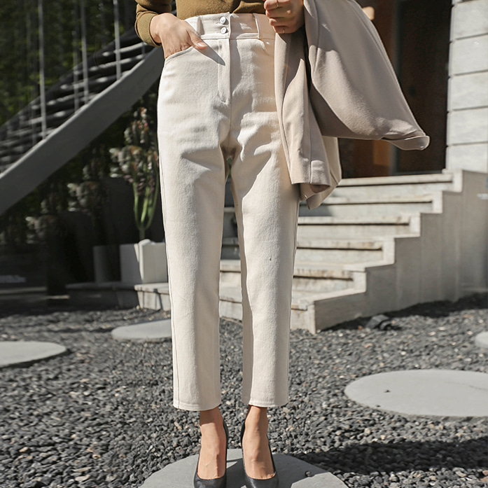 Dabagirl High Waist Relaxed Fit Cotton Pants
