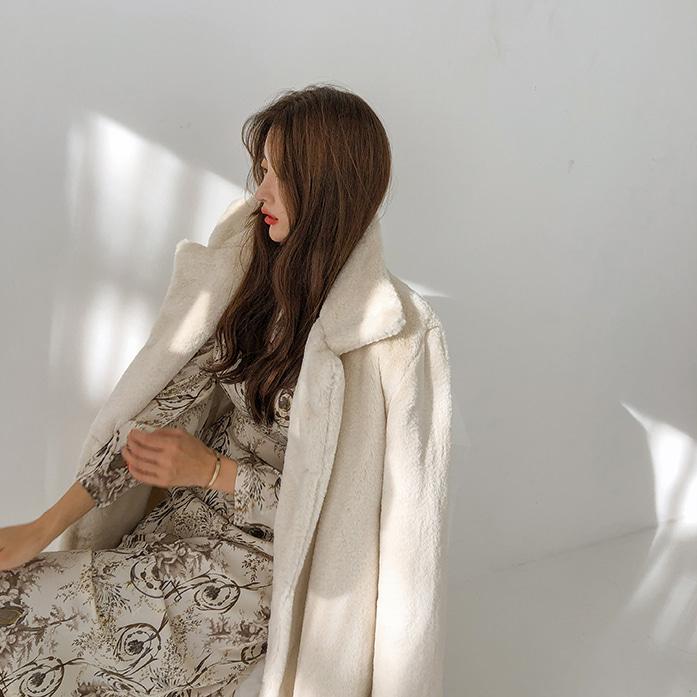 Dabagirl Mock Neck Floral Midi Dress