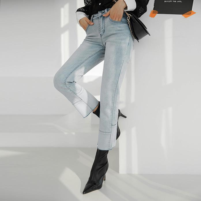 Dabagirl Fleece-Lined Cropped Jeans
