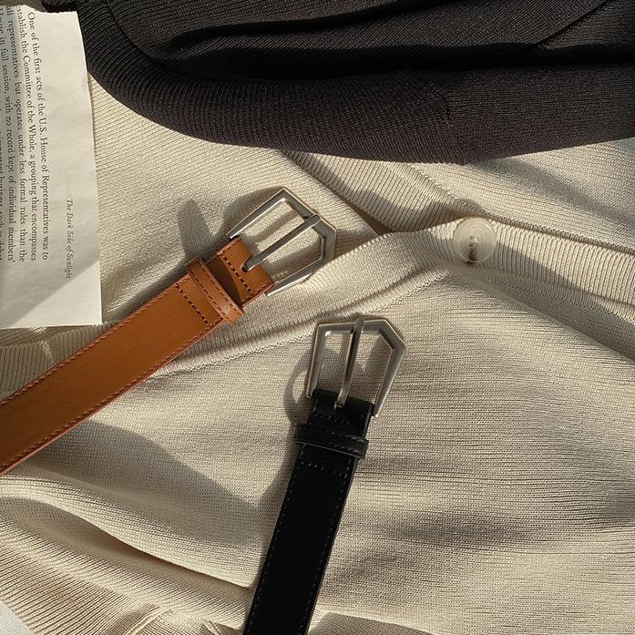 Dabagirl Asymmetric Buckle Leatherette Belt