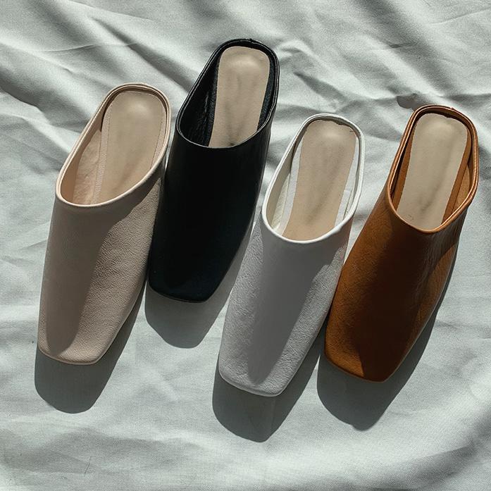 Square Toe Flat Mules | DABAGIRL, Your