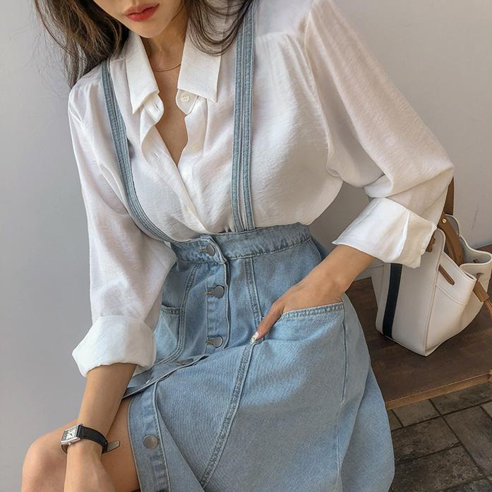 Dabagirl Solid Tone Rayon Blend Shirt