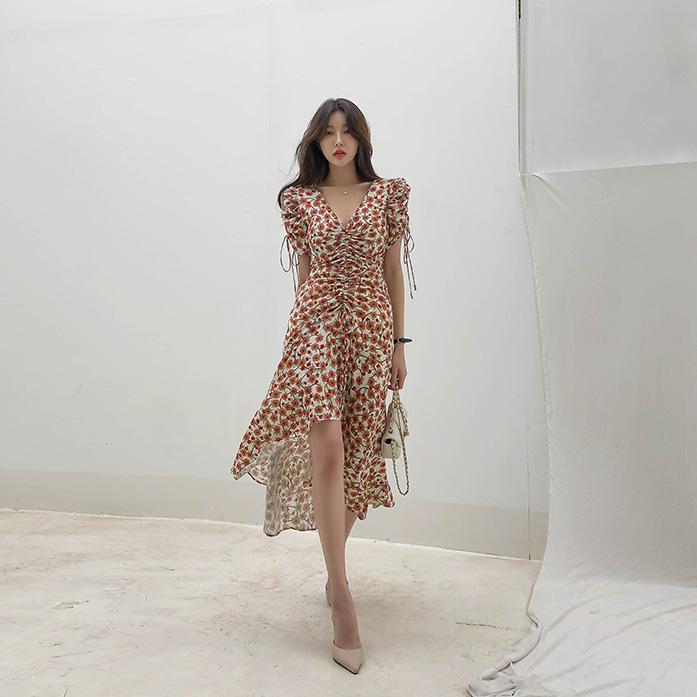 Dabagirl Asymmetric Floral Dress