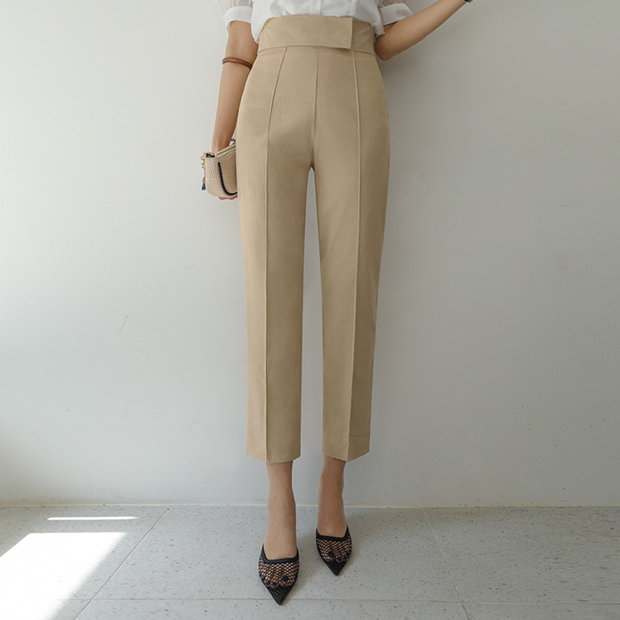 Dabagirl High Waist Creased Crop Slacks