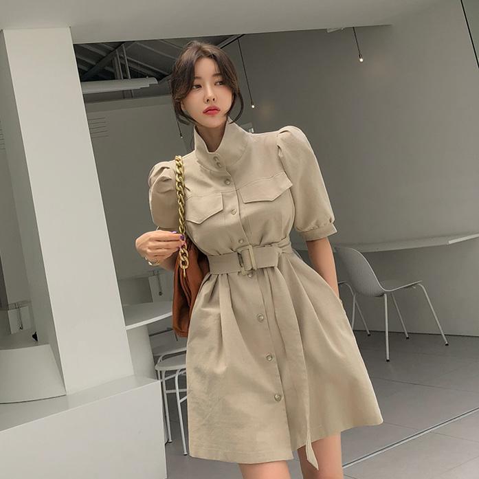 Dabagirl High Neck Belted Mini Dress